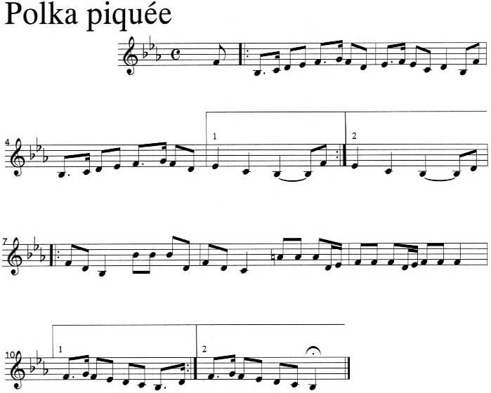 Polka piquée