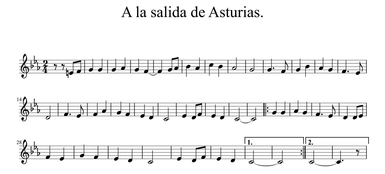 A la salida d'Asturias