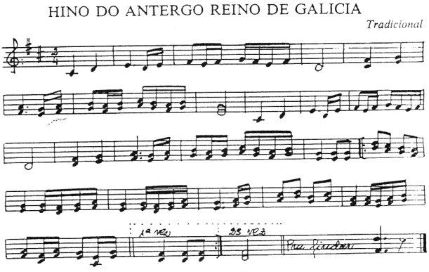 Hino do antergo reino de Galicia