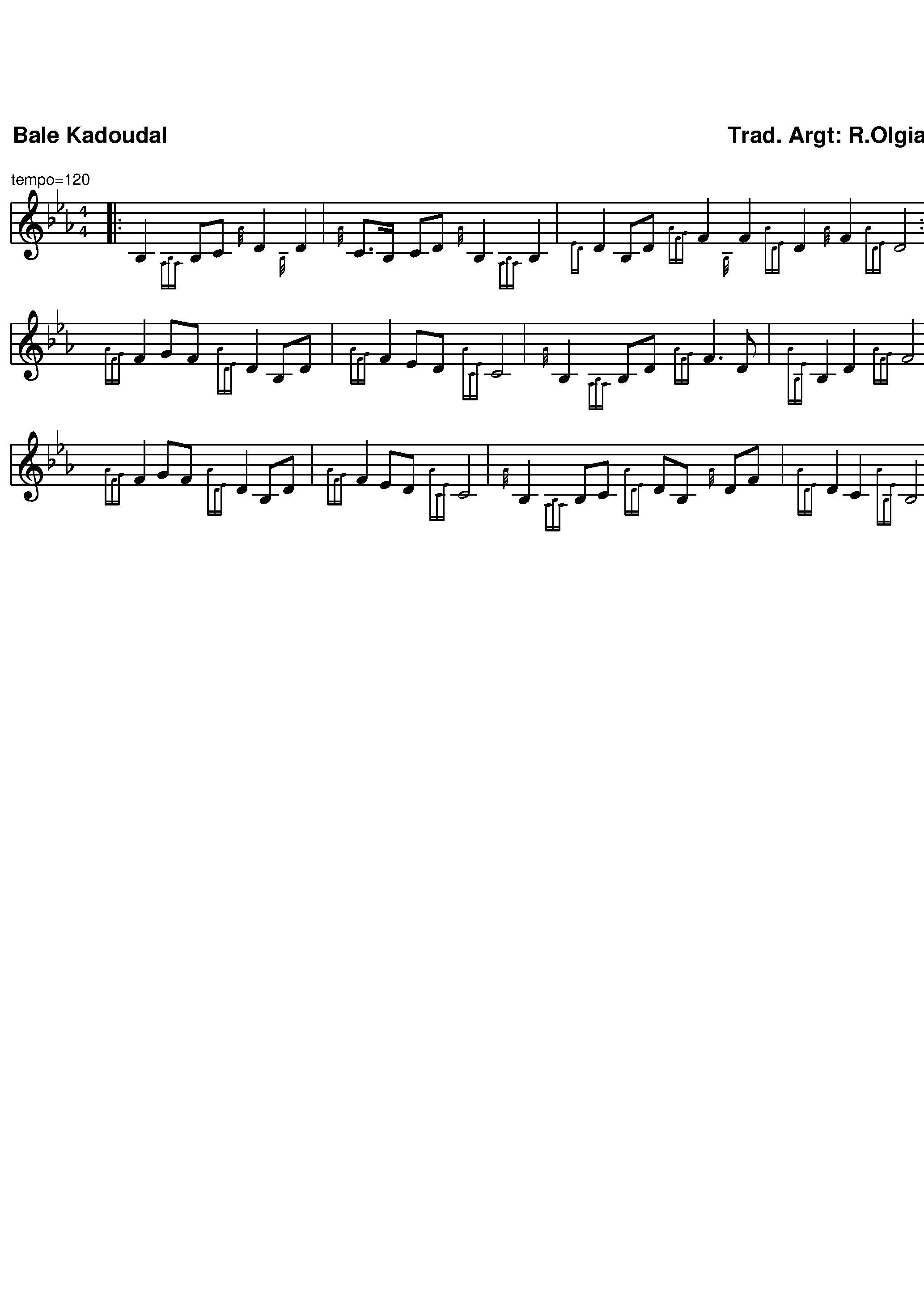 Bale Kadoudal (notation bretonne)