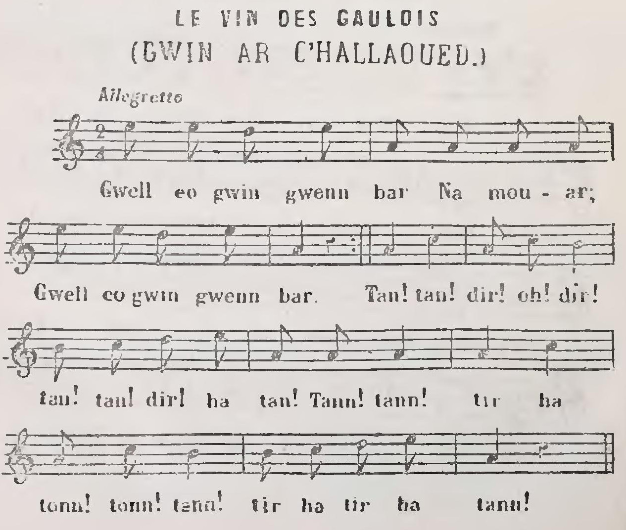 Gwin ar C'hallaoued