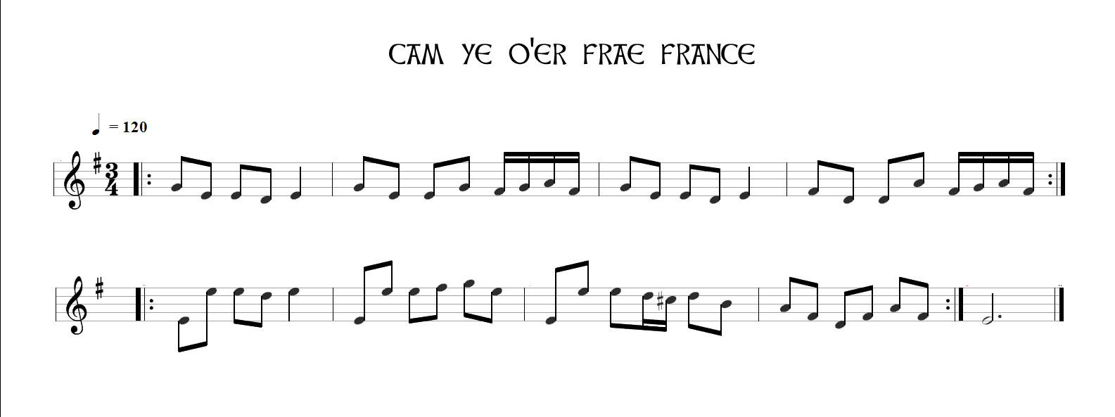 Cam Ye O'er Frae France