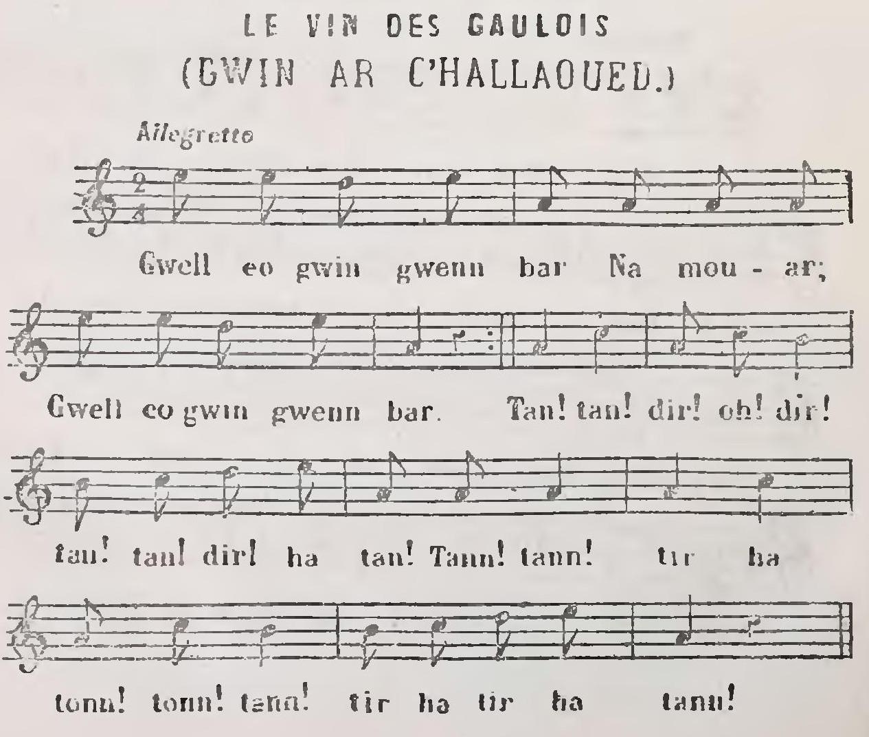 Le Vin des Gaulois (Gwin ar C'hallaoued)